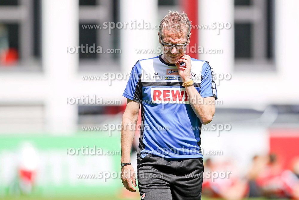 16.07.2015, Geissbockheim, Koeln, GER, 1. FBL, 1. FC Koeln, Training, im Bild Trainer Peter Stoeger (1. FC Koeln) // during a practice session of German Bundesliga Club 1. FC Cologne at the Geissbockheim in Koeln, Germany on 2015/07/16. EXPA Pictures &copy; 2015, PhotoCredit: EXPA/ Eibner-Pressefoto/ Schueler<br /> <br /> *****ATTENTION - OUT of GER*****