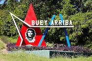 Image of Ernesto Che Guevara in Buey Arriba, Granma, Cuba.