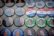 20th January 2009, the inauguration of President Obama.  Brooklyn, New York. .Minutes after, New York style, on every corner, there were people selling badges and photos Barack Obama, President of the United States of America...Image © Arsineh Houspian/Falcon Photo Agency