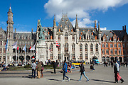 Markt - the main square - in Bruges, Belgium