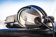 Lightspeed noise-cancelling headset on the dash of a TBM700 turboprop aircraft.