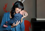 Sandra Schuurhof met haar zoontje James Luke Schuurhof.