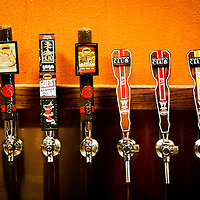 TAMPA, FL -- Taps are seen at the Cigar City Brewing tasting room in Tampa, Florida.  (Photo / Chip Litherland)