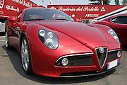 Red Alfa Romeo C8 Sports car