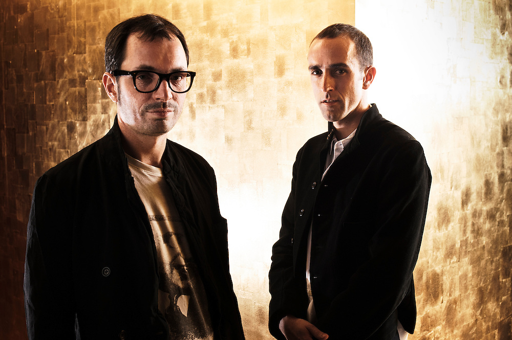 PARIS, FRANCE. JULY 30, 2011. Silencio's owner Arnaud Frisch (wearing glasses) with Silencio's designer Raphael Navot at the club. Photo: Antoine Doyen