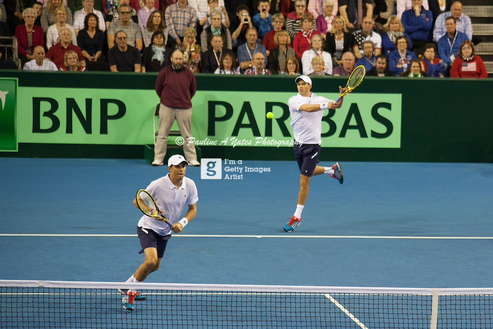 Bob and Mike Bryan keep battling to take the doubles rubber in the Davis Cup, Glasgow