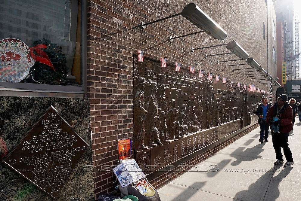 Mural dedicated to the lives lost amongst the New York Fire Department on 911.