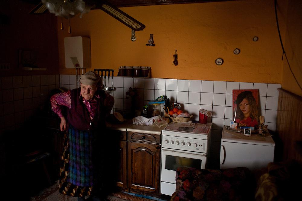 Ljubica Gogic in her kitchen in Velika Hoca...Orthodox Christmas (January 7) in the Serbian village of Velika Hoca, Kosovo.