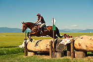 Eventing (equestrian triathlon), Cross Country event, The Event at Rebecca Farms, Kalispell, Montana, Patricia Morissette, Thoroughbred Cross