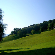 view of Austrian countryside of Vorarlberg