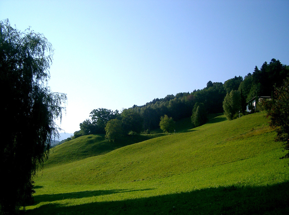 view of Austrian countryside of Vorarlberg
