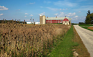 A collection of Barns that still can be seen while traveling the countryside in  the beautiful State of Wisconsin.<br /> Fond du Lac County- big red barn Memorial Drive and NE of Lindsey Lane. Barns from around the State of Wisconsin.