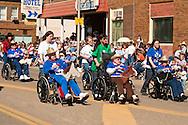 Senior citizens, wheelchairs, Miles City Bucking Horse Sale Parade, Montana