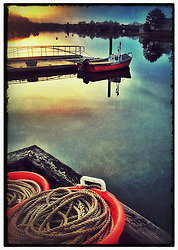 "Portsmouth Harbor dawn, Portsmouth, New Hampshire. iPhone photo -suitable for print reproduction up to 8"" x 12""."