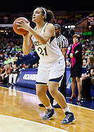 SOUTH BEND, IN - FEBRUARY 11: Kayla McBride #21 of the Notre Dame Fighting Irish shoots a jump shot against the Louisville Cardinals at Purcel Pavilion on February 11, 2013 in South Bend, Indiana. Notre Dame defeated Louisville 93-64. (Photo by Michael Hickey/Getty Images) *** Local Caption *** Kayla McBride