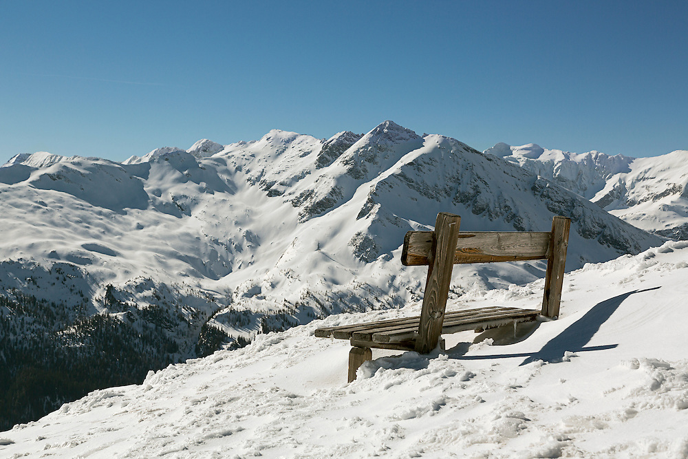 A resting place on a high Alpine Mountain