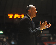 "Penn State coach Ed DeChellis at the C.M. ""Tad"" Smith Coliseum on Friday, November 26, 2010. Ole Miss won 84-71."