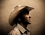 William DeShazer/Staff<br /> Caleb Sanderson, of Kissimmee, Fla., poses for a portrait before competing in the PBR Rodeo at Germain Arena on Friday July 19, 2013.