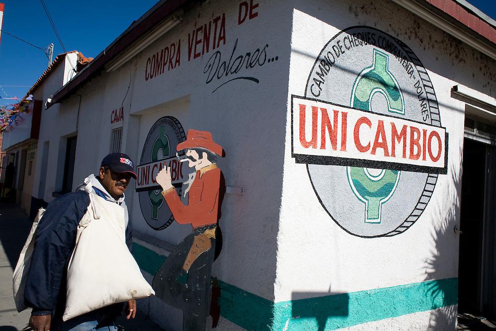 A street scene in Agua Prieta, Sonora, Mexico, on Wednesday, Jan. 30, 2008.