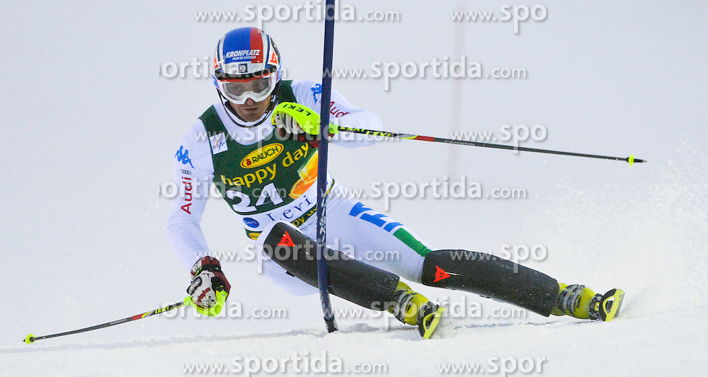 11.11.2012, Levi Black, Levi, FIN, FIS Ski Alpin Weltcup, Slalom, Herren, 1. Durchgang, im Bild Manfred Moelgg (ITA) // Manfred Moelgg of Italy during 1st run of mens Slalom of FIS ski alpine world cup at Levi Black course in Levi, Finland on 2012/11/11. EXPA Pictures © 2012, PhotoCredit: EXPA/ sportbild.se/ Nisse Schmidt..***** A11ENTION - OUT OF SWE *****