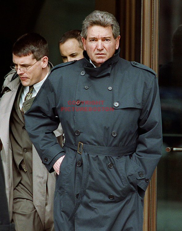 (03/12/2002-Boston,MA) Former FBI agent John Connolly leaves Moakley Federald Courthoude today with 2 men (possible his lawyers)(031202fbiagentmg-Staff Photo: Mark Garfinkel.Saved phto1/WED)