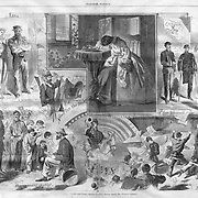 Harper's Weekly artist Winslow Homer at work covering the Civil War 1864