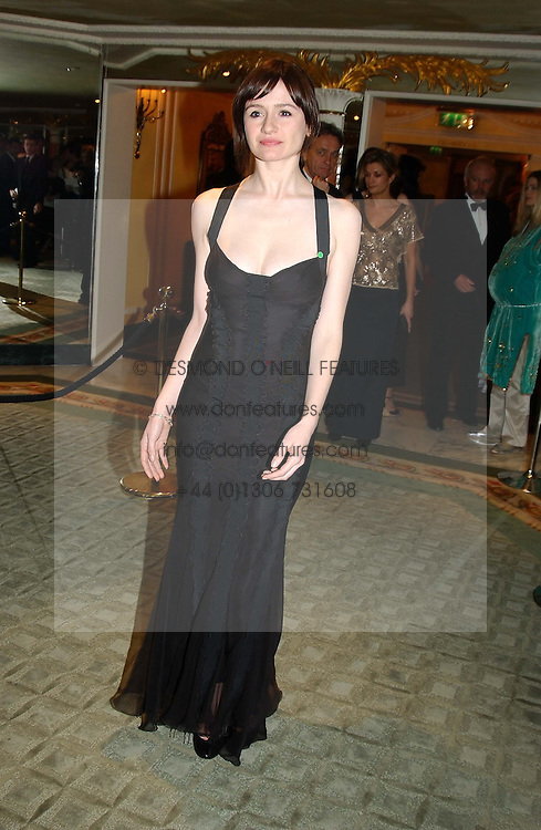 Actress EMILY MORTIMER  at the 25th annual Awards of the London Film Critics' Circle in aid of the NSPCC held at The Dorchester Hotel, Park Lane, London W1 on 9th February 2005.<br /><br />NON EXCLUSIVE - WORLD RIGHTS
