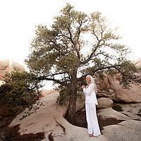 Beautiful mature woman in a natural landscape.