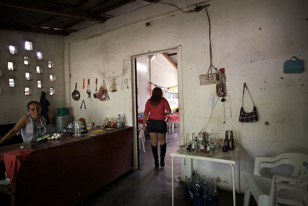 Huixtla, Chiapas. One of the bars near the brothels, in the Zona de Tolerancia. - Prostitution on Mexican Southern Border