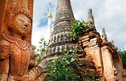 Pagoda ruins of Indein, Inle Lake, Myanmar.
