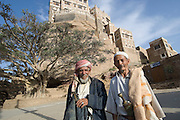 Dar al-Hajar, the residence of Imam Yahya in the Wadi Dhar near San?a?.  Morning.