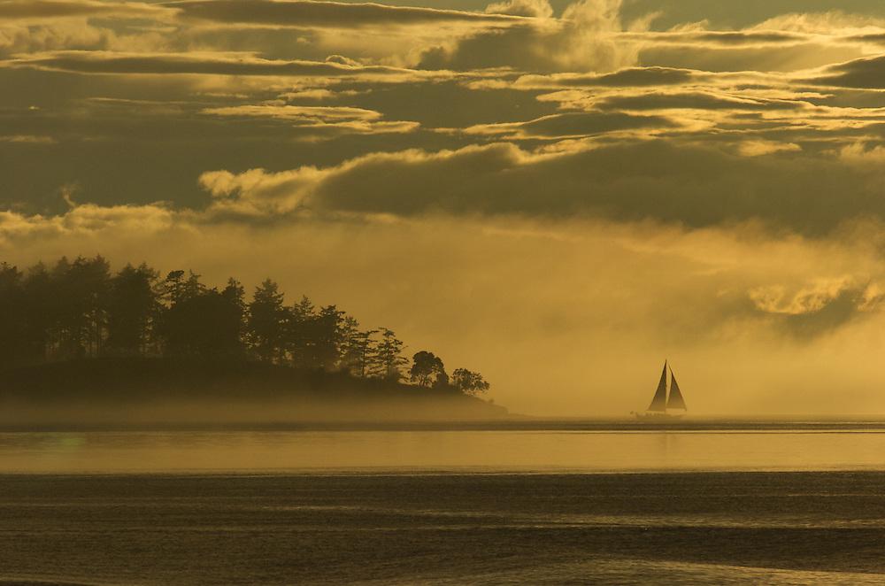 Sunset in the San Juan Islands, Washington.
