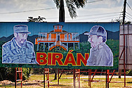 Revolutionary sign in Biran, Holguin, Cuba.