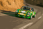 Image of a 1972 Porsche 911T/ST Kremer Recreation on a road
