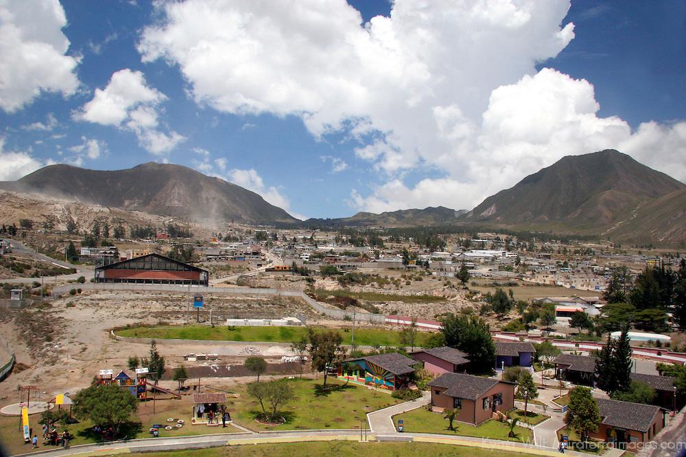 South America, Ecuador, the Equatorial Monument.  View from the top of the Equatorial Monument, marking the equator through Ecuador.