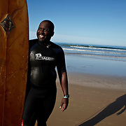 April 2009 Cintsa, Eastern Cape, South Africa. Surfer Wayne Ncube willing to sign model release- waynencube@gmail.com