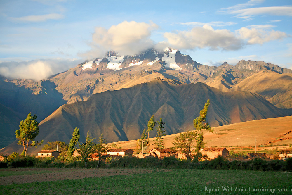 South America, Peru, Urubamba. Scenic landscape of the Andes and the Sacred Valley.