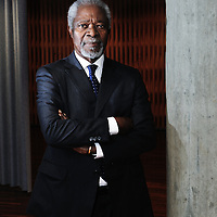 Kofi Annan, photographed in Geneva, at the Museuam of the ICRC.