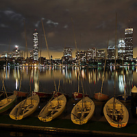 Boston Dark skies skyline photography pictures are available as museum quality photography prints, canvas prints, acrylic prints or metal prints. Prints may be framed and matted to the individual liking and decorating needs:<br />