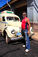 The driver of an ice cream truck in Alquizar, Artemisa Province, Cuba.