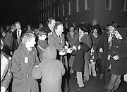 Image of Fianna Fáil leader Charles Haughey touring West Cork during his 1982 election campaign...04/02/1982.02/04/82.4th February 1982..Young Irelanders: ..Fianna Fáil  leader on the campaign trail as he pursues the endorsement of the West Cork electorate. Young people not yet the age to vote turn out to greet him.