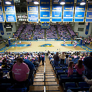 University of Delaware fans pack The Bob Carpenter Center of the annual Dare to be Strong Women's Health Awareness Pink Game that featured No. 18 Delaware vs James Madison Sunday, Feb 24, 2013 at the Bob Carpenter Center in Newark Delaware...Delaware (24-3; 15-0) defeated James Madison (18-9; 13-3) 61-60