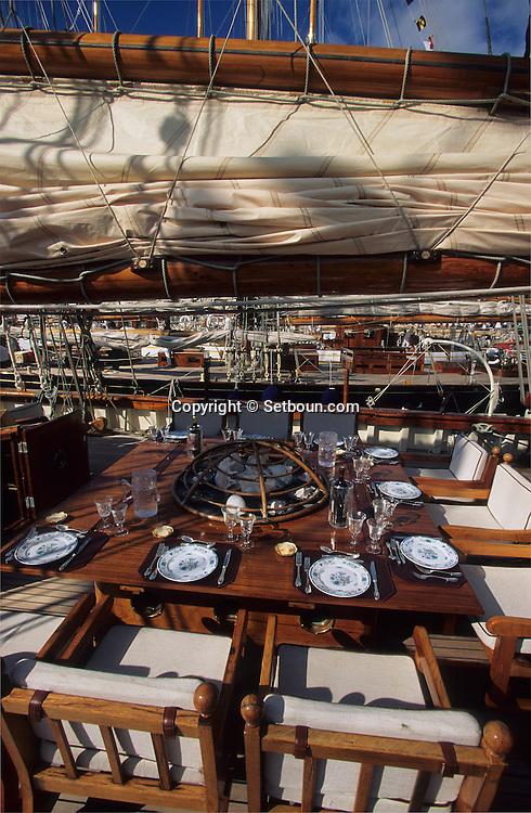 THE YACHT THAT USED TO BELONG TO ERROL FLYNN IN MONACO The Zaca boat (1928) was belonging to Eroll Flynn    Monaco     ///  le bateau  Zaca (1928) ayant appartenu a Eroll flynn,    Monaco