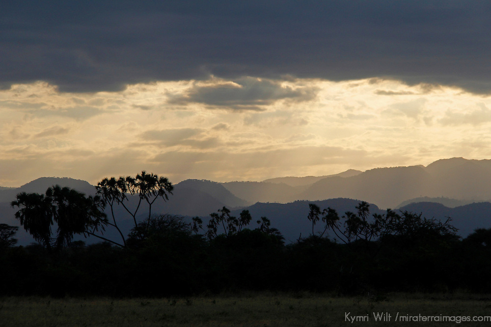 Africa, Kenya, Meru. Skies over the landscape at Meru National Park.