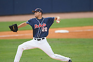 Mississippi's Matt Crouse pitches vs. Murray State in college baseball action at Oxford-University Stadium in Oxford, Miss. on Tuesday, April 27, 2010.