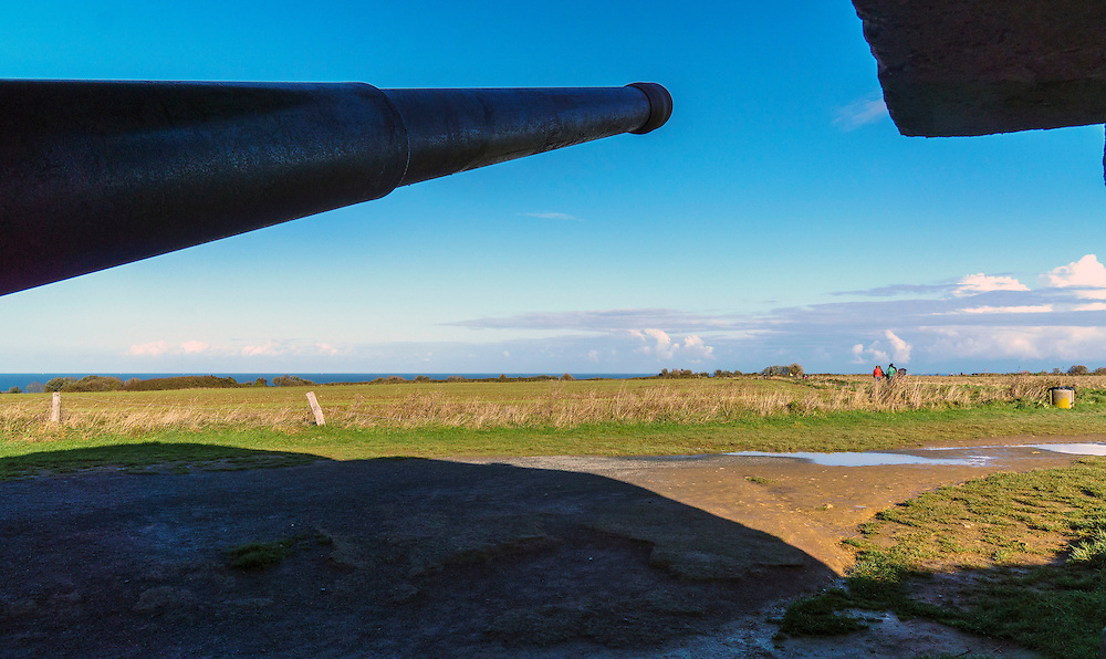 This peaceful scene in Normandy, France,  is still dominated by the remains of  World War II powerful German artillery. It is hard to imagine that this place was the scene of the biggest invasion in the world history. The D-day. The beginning of Europe's liberation offensive by the Allies. Over 250,000 servicemen, air crews and land forces, participated in the invasion. Over 6,800 vessels,  11,000 aircrafts and 20,000 land vehicles took part in the initial days of the invasion. Thousands of life were lost.
