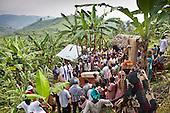 Batwa tribe member burial. Uganda