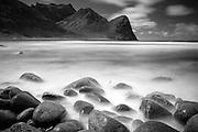 Rocks on Unstad Beach, Lofoten Islands, Norway