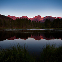 Sprague Lake, Sunrise, Rocky Mountain National Park, Colorado