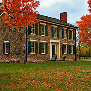 &quot;Cobblestone Farm in Fall&quot;<br /> <br /> A wonderful image of historic Cobblestone Farm in Ann Arbor Michigan during the fall season!!<br /> Beautiful architecture, texture and colors!!<br /> <br /> Architecture, structures, buildings and their details by Rachel Cohen